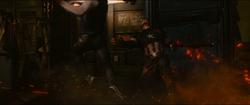 Quicksilver punches Captain America
