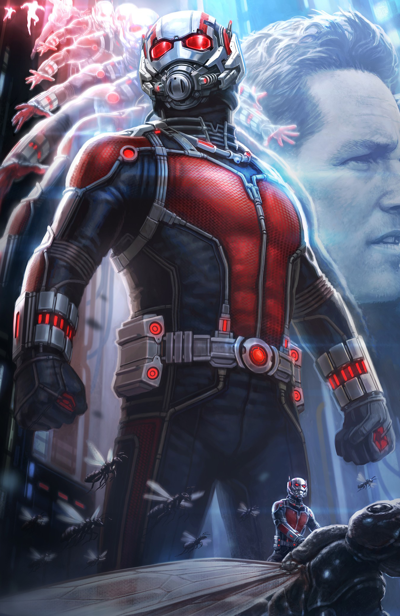 It is a graphic of Bright Pics of Antman