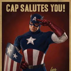 Afiche promocional del Espectáculo del Capitán América.