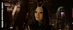 Mantis at Yondu's funeral