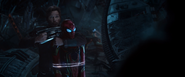 Star-Lord Holds Spider-Man Hostage