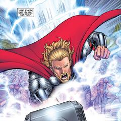 Thor lidera a sus tropas en la Guerra de los Nueve Mundos.