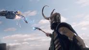 Loki shoots Quinjet