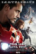 Captain America Civil War Team Iron Man poster