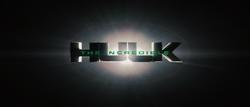 The Incredible Hulk Title Card (2008)