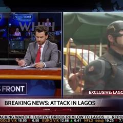 Everhart habla con Norris para aprender más de la explosión en Lagos.