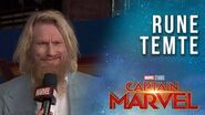 Rune Temte talks Starforce! Captain Marvel Red Carpet Interview