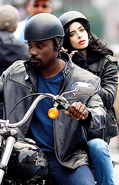 Jessica Jones Luke Cage set photo 4