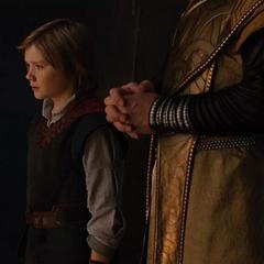 Thor y Loki escuchan las historias de Odín.