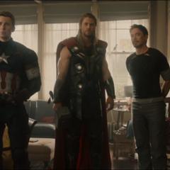 Rogers y los Vengadores en la Granja de Clinton Barton.
