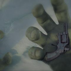 Hulk despierta tras recibir el balazo en la boca.
