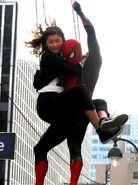 Michelle Spider-Man FFH BTS