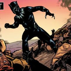 T'Challa como la Pantera Negra.