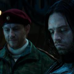 Barnes tras recuperar el suero de Stark.