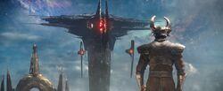 Heimdall vs Dark Ellf Ship