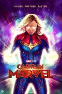 Captain Marvel - Sam Gilbey Poster