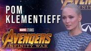 Pom Klementieff Live at the Avengers Infinity War Premiere