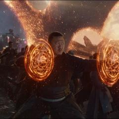 Wong y los Maestros de las Artes Místicas llegan a la Batalla de la Tierra.