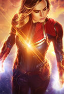 Captain Marvel Real 3D Textless Poster
