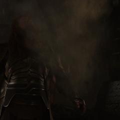 Volstagg siente la llegada de los Elfos Oscuros.