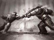 AAoU Concept Art Hulkbuster Clash