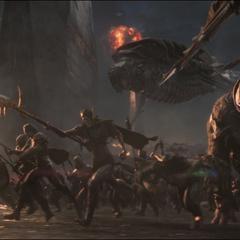 Midnight y Glaive dirigen su ejército contra las heroínas.