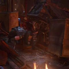Mantis se recupera después de la retirada de Thanos.