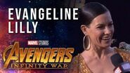 Evangeline Lilly Live at the Avengers Infinity War Premiere