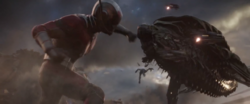 Ant-Man punches Leviathan