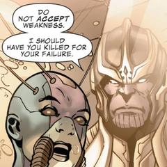 Thanos decepcionado de Nebula.