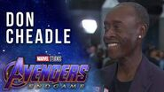 Don Cheadle talks what makes a real world hero LIVE at the Avengers Endgame Premiere
