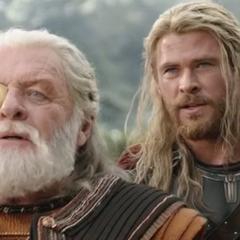 Loki es amenazado por Thor.