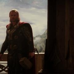 Thor ve a su madre fallecida.