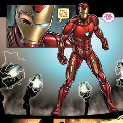 Stark pone a prueba el Mark L en el Centro de los Nuevos Vengadores.