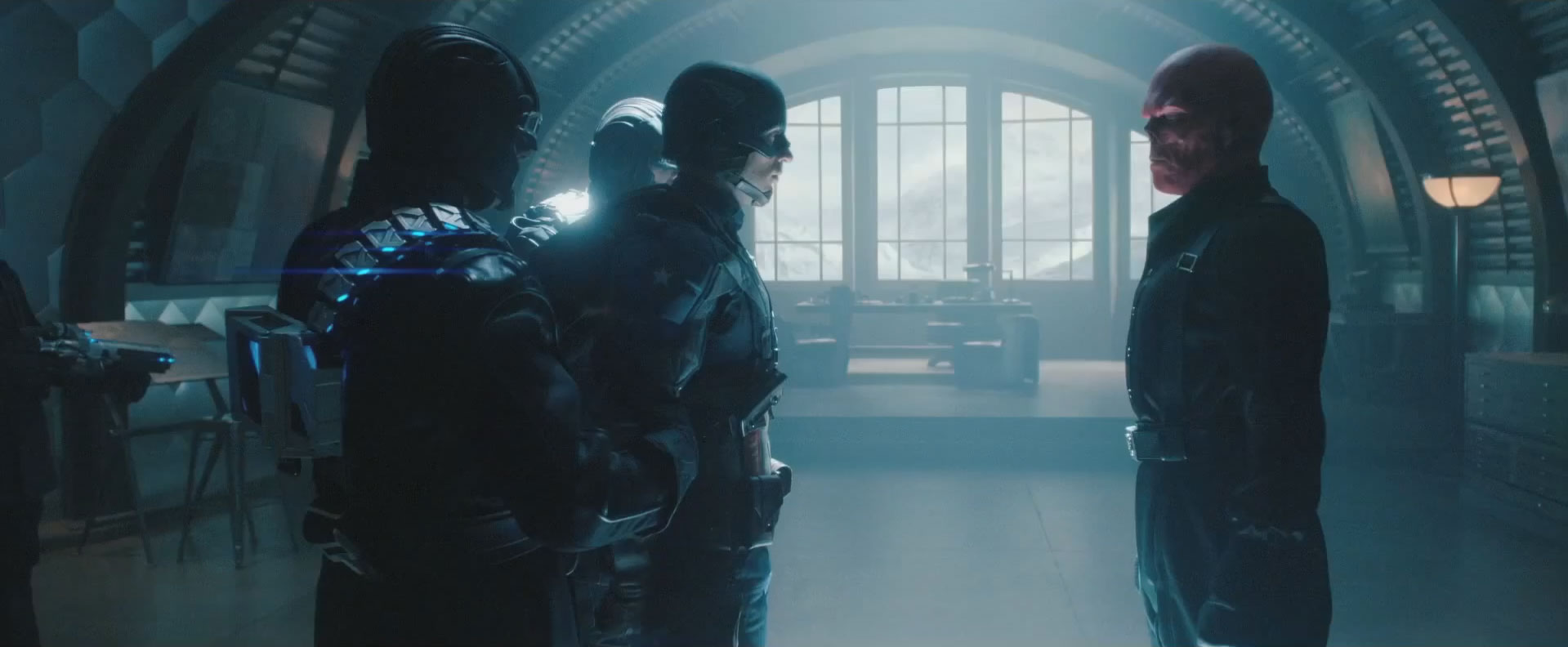 captain america returns from hydra base