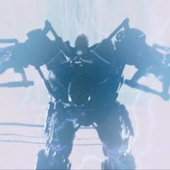 Stane recibe el impacto del rayo del Reactor Arc.