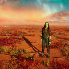 Gamora en el desierto.