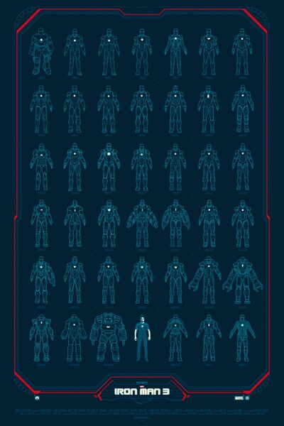 Iron Man Armors Poster