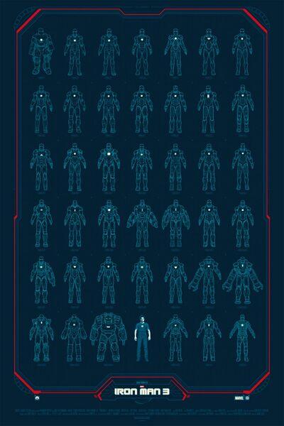 Iron Man Armors Poster