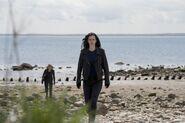 Jessica and Trish visit a beach
