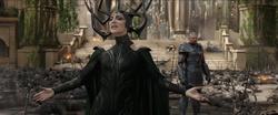 Hela tras acabar con los Asgardianos