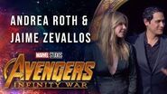 Andrea Roth and Jaime Zevallos Live from the Avengers Infinity War Premiere