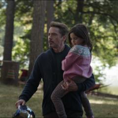 Stark forma una vida pacífica con su hija.