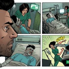Rumlow escapa del hospital.