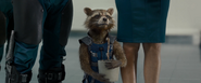 Rocket holding Groot