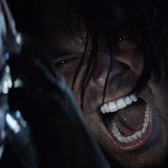 Barnes trata de destruir el Reactor Arc de Stark.
