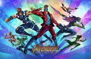 Fandango Avengers Infinity War mini poster team 3