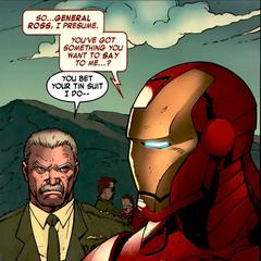 Stark se reúne con Thaddeus Ross.
