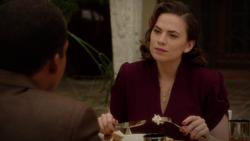 Peggy talks to Jason - Breakfast