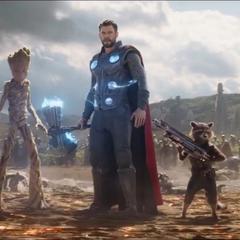 Rocket, Groot y Thor llegan a Wakanda.